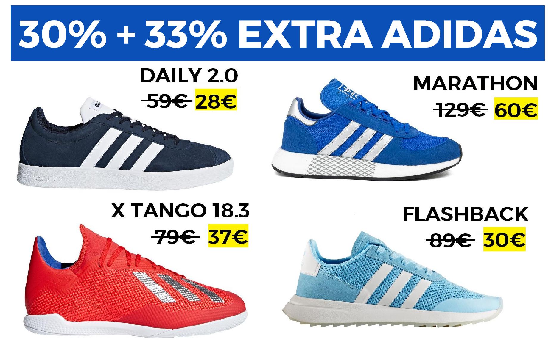 30% + 33% EXTRA en Adidas Outlet
