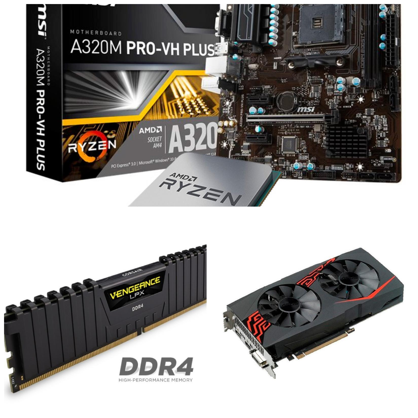 Kit Ampliación PC Gaming Básico: Placa + CPU + RAM + Gráfica
