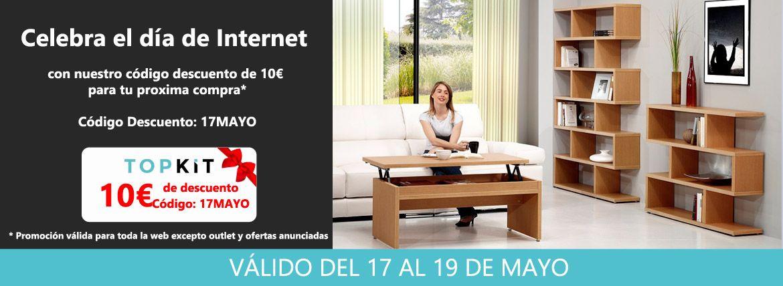 Código descuento de 10€ en tu compra de cualquier mueble por el día de internet