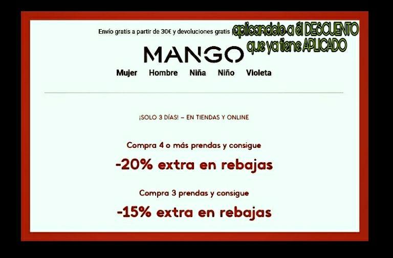 OULET  MANGO  ONLINE Y TIENDA FÍSICA