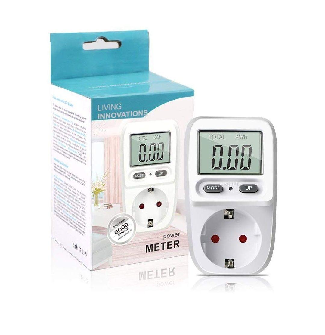 Zaeel Medidor de consumo de energía eléctrica con pantalla LCD