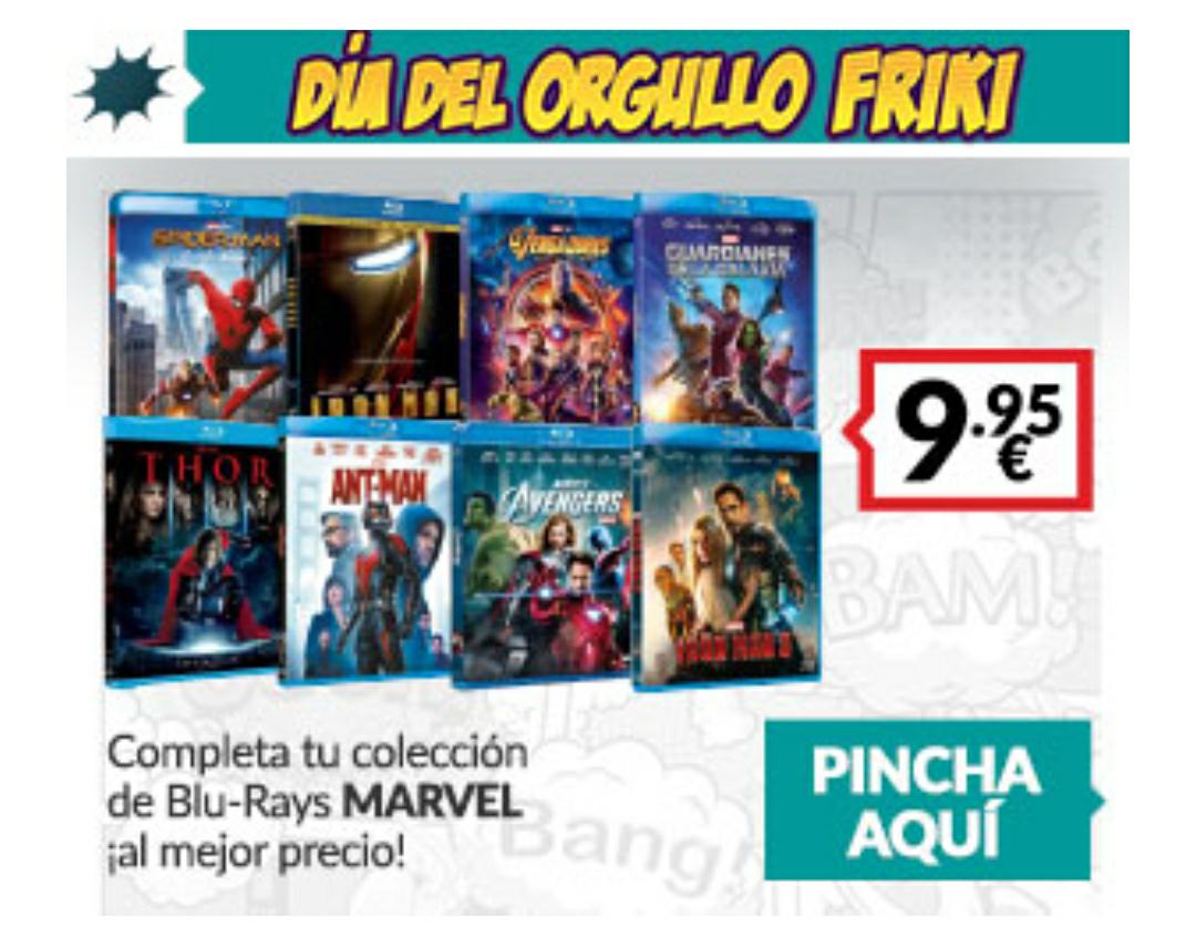 Películas Marvel a 10€
