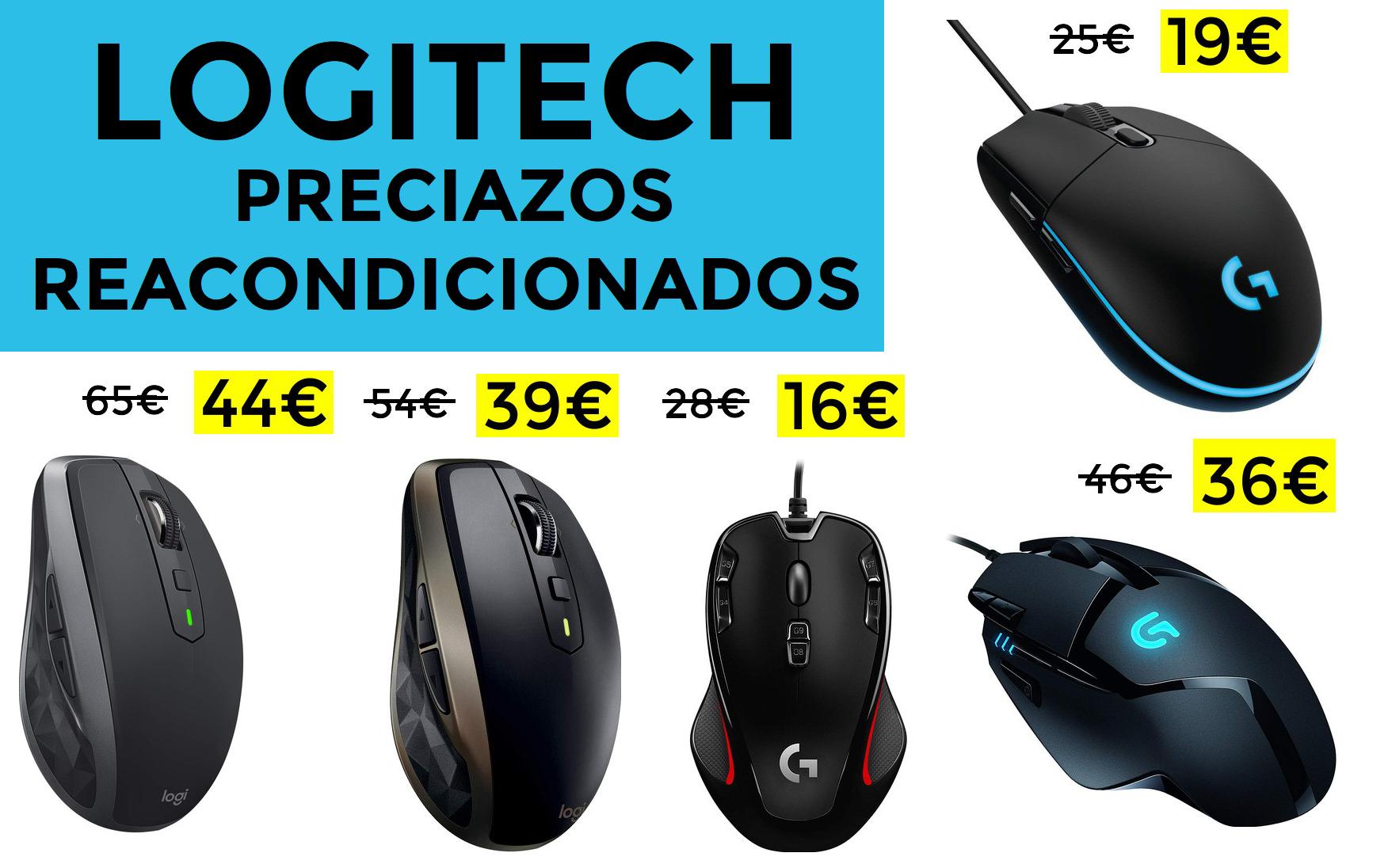 Preciazos en ratones Logitech reacondicionados