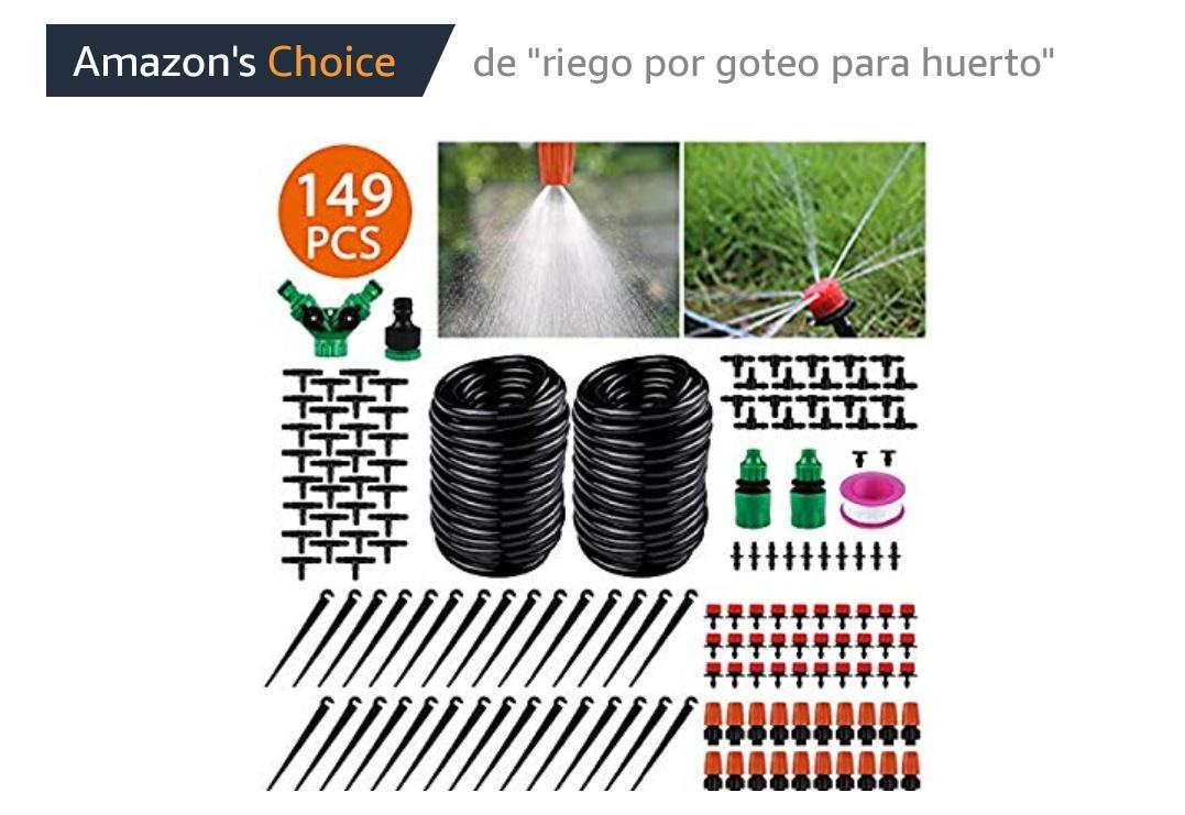 Mega Kit de riego 149 Unidades Sistema de riego de jardín