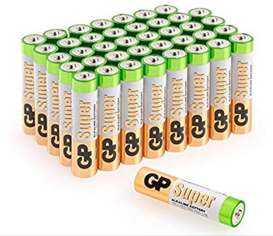 Pack de 40 Pilas AAA Alcalinas Capacidad y duración excepcional 0'24€ unidad