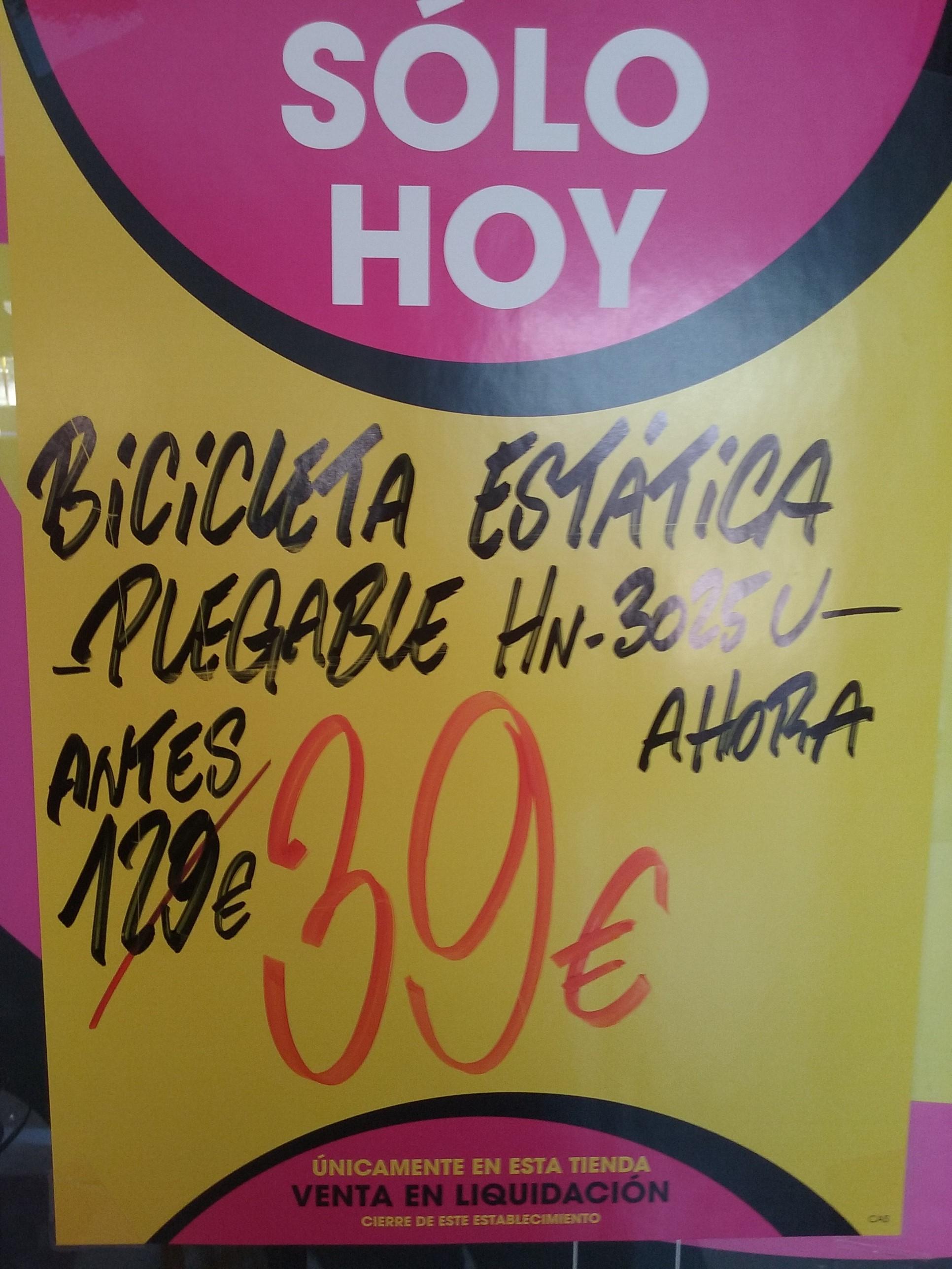 Bicicleta estática plegable HN-3025U Eroski Cartagena