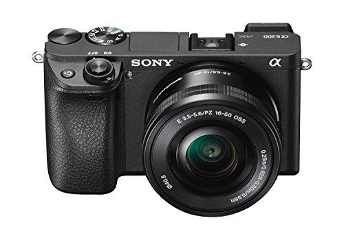 Sony Alpha A6300 - Cámara compacta con montura tipo E (sensor APS-C CMOS Exmor R, procesador BIONZ X de 24,2 MP, 425 puntos AF y grabación 4K) - cuerpo + objetivo SELP1650