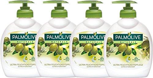 Palmolive - Aceite de oliva Leche Jabón líquido, 4 unidades. (4 x 300 ml)