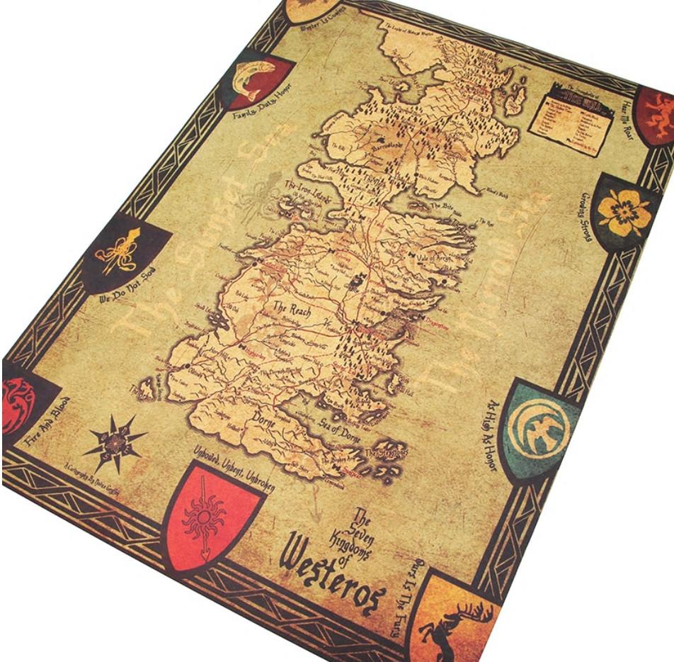 Mapas vintage de Juego de Tronos entre 1,39€ y 1,47€ ud.