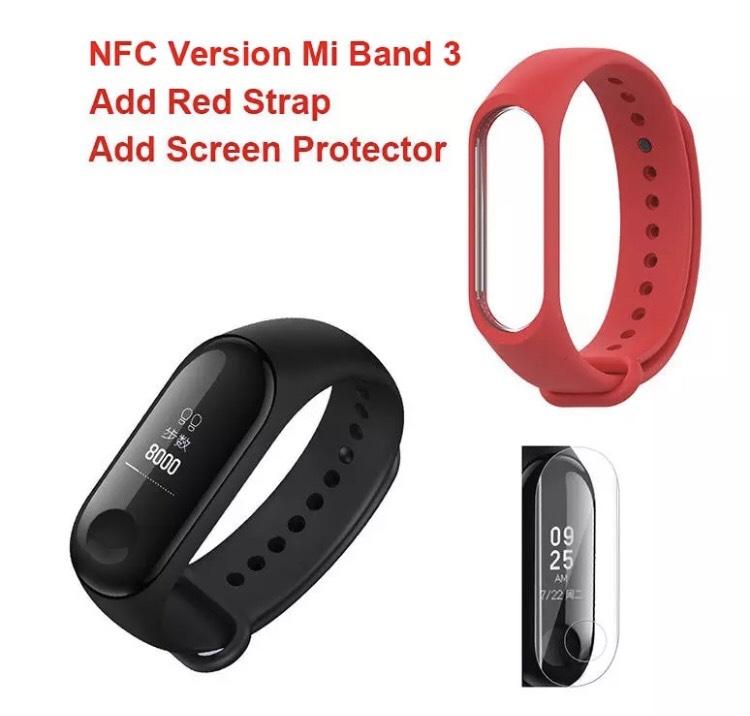 Mi Band 3 NFC + pulsera + protector desde España por 15€ y sola por 14€