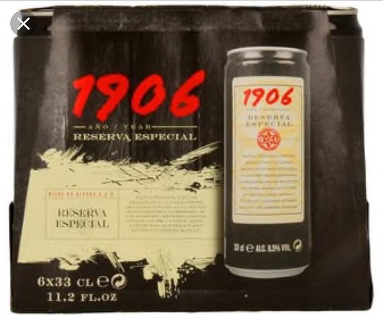 Cerveza Especial 1906. 2 packs de 6 latas 33 cl. Lidl