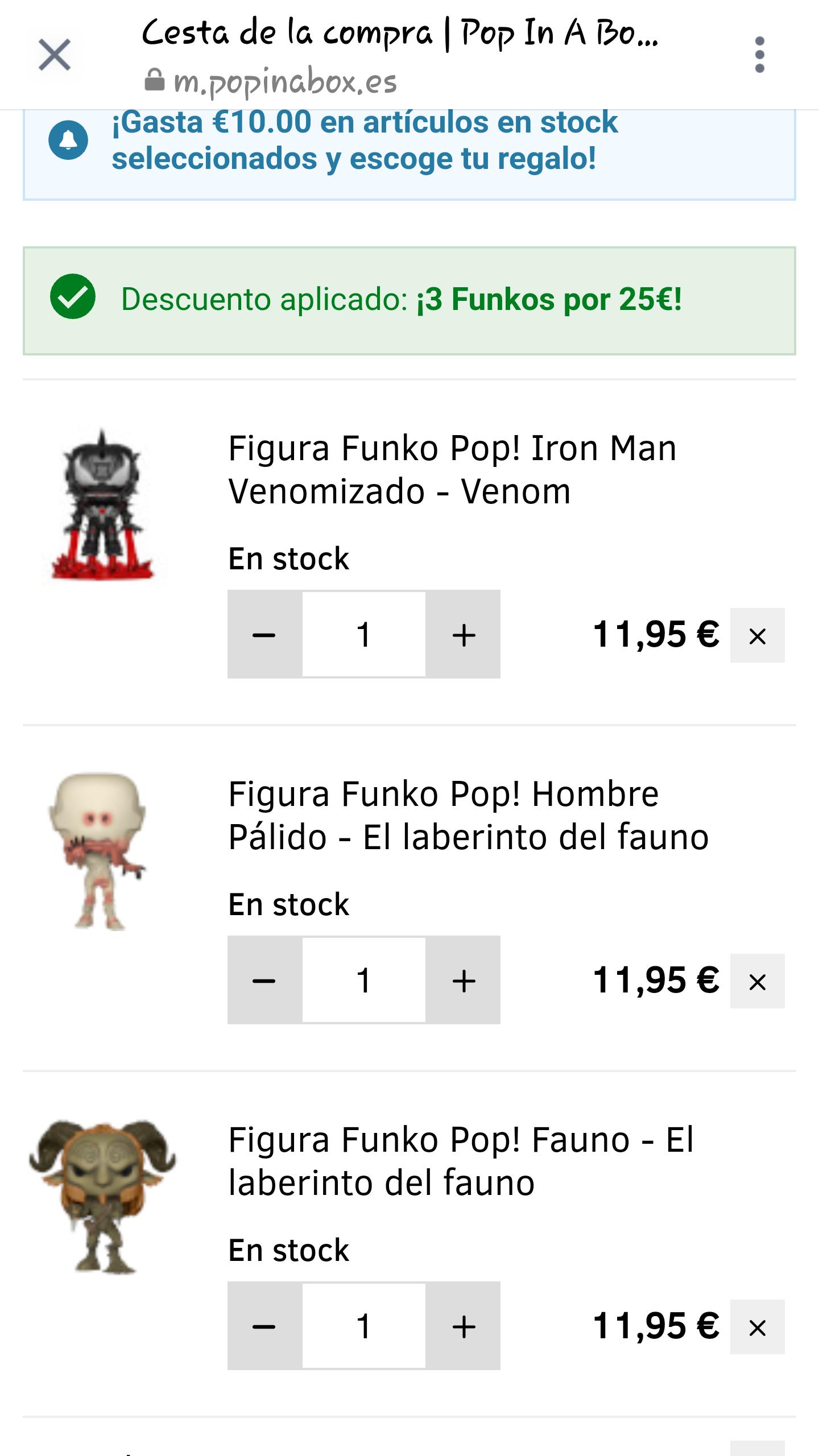 3 funko pop por 25 euros