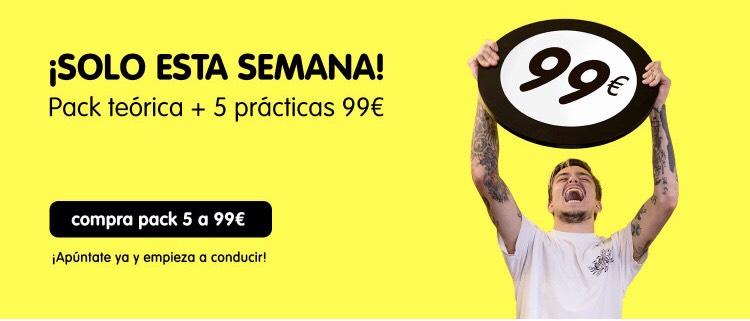 Curso Teórico carnet coche + 5 prácticas en Madrid