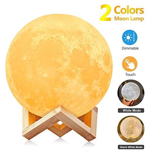 Lámpara luna 3D - Con batería y 2 colores [15CM]