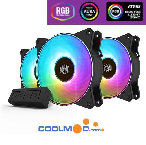 Cooler Master Masterfan MF120R ARGB + Control / 3 Ventiladores 12 cm - Reacondicionado