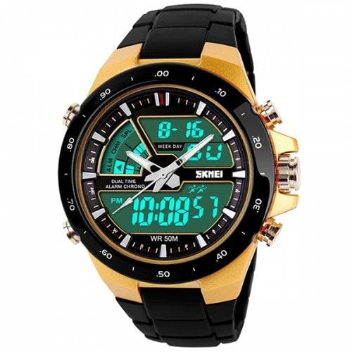 Skmei 1016 - Reloj deportivo con luz LED - Color ORO