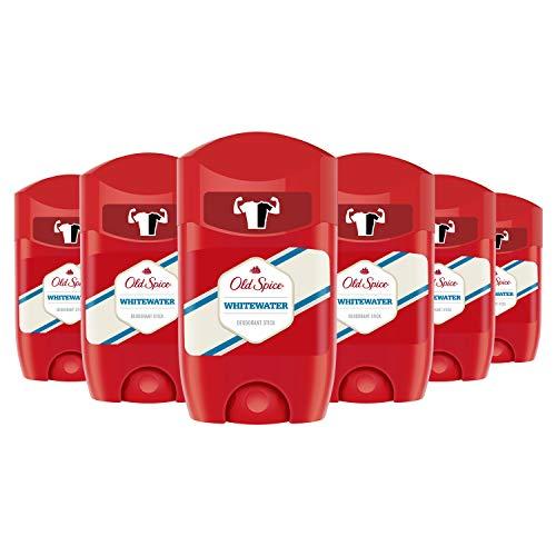 Old Spice Whitewater Desodorante Stick, 50 ml, pack de 6