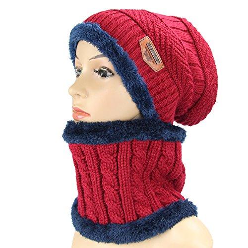 Sombrero de lana y braga para el cuello