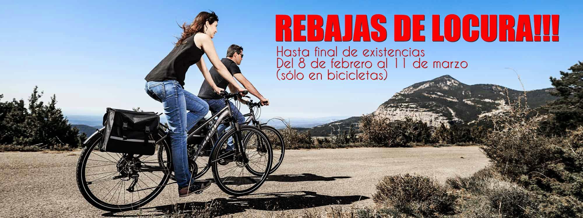 Liquidación de bicicletas en Clootbike.com hasta final de existencias.REBAJAS solo del 8 de febrero al 11 de marzo.