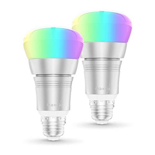 Pack de 2 bombillas Wi-Fi multicolor 9W E27
