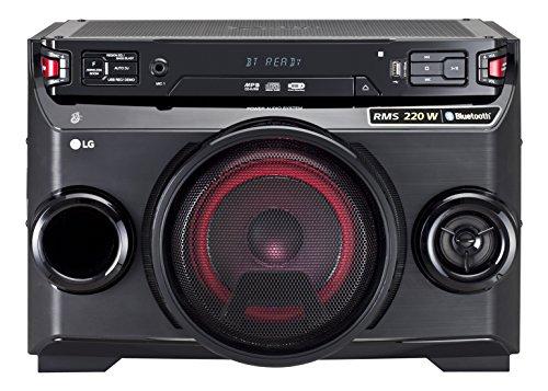 Microcadena 220 Watios - LG OM4560 (Bluetooth, LED), color negro