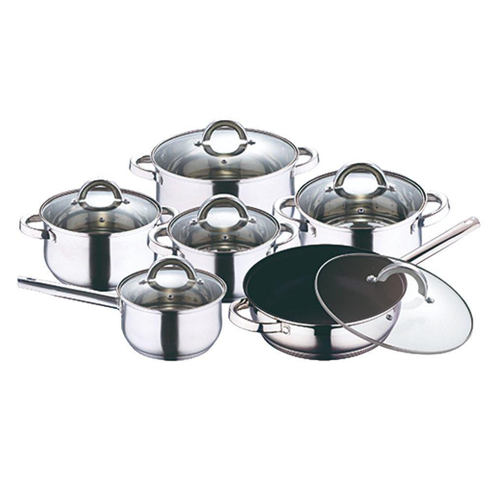 SET de 12 Piezas San Ignacio - Batería de cocina de acero inoxidable cromado