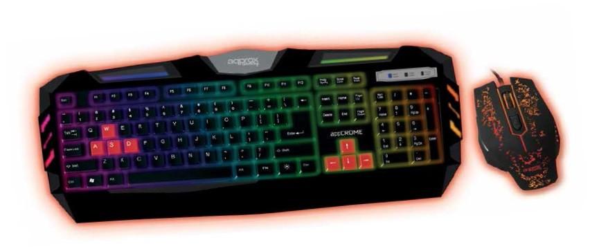 Approx Crome Gaming Set (teclado + ratón)