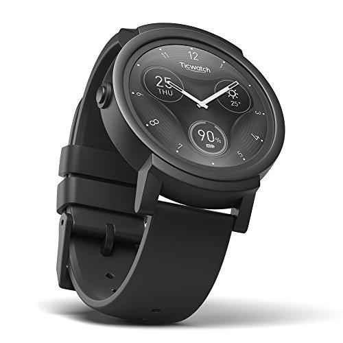 Ticwatch E Express - Reloj inteligente con pantalla táctil + cargador gratis