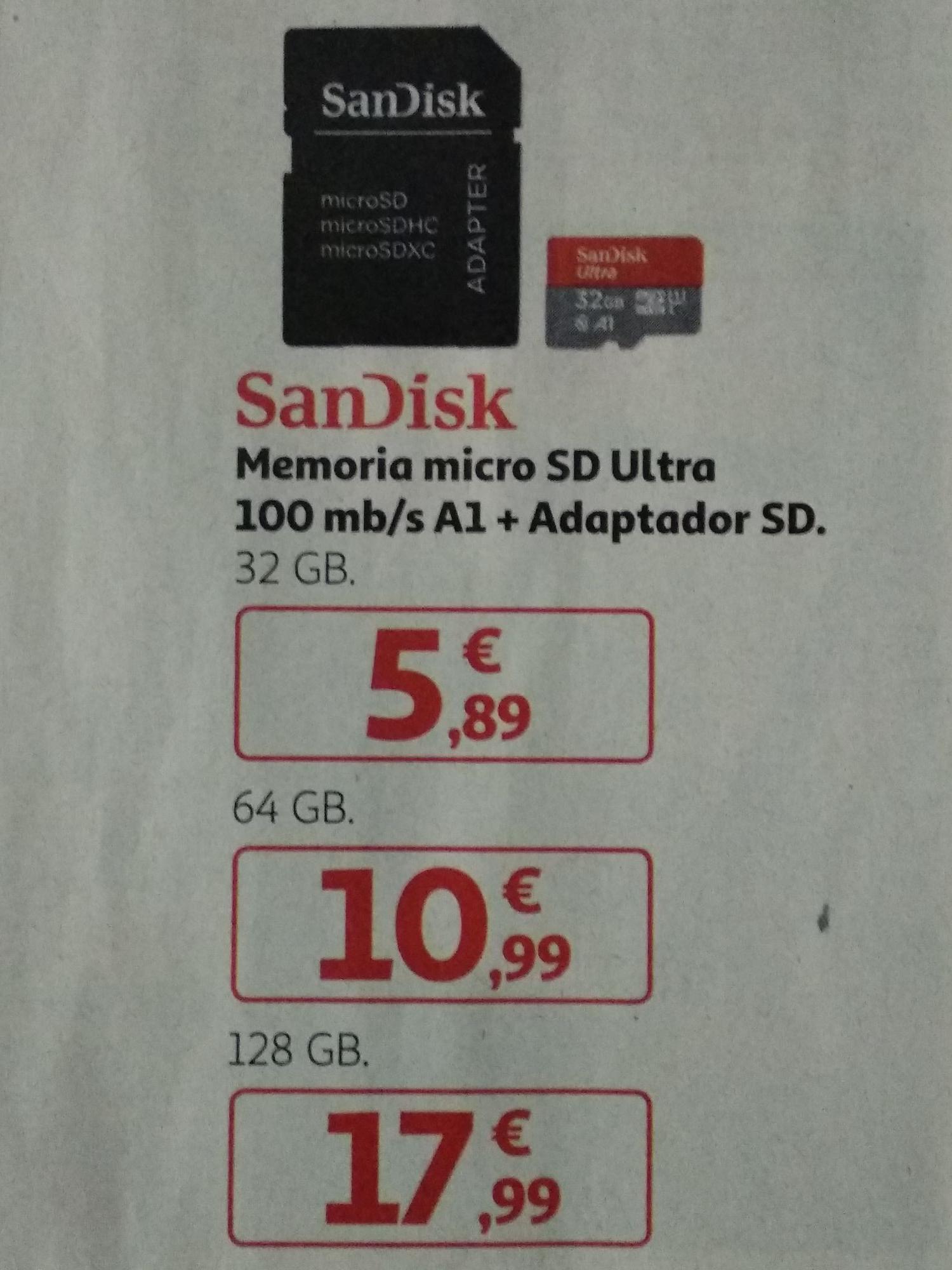MicroSD SanDisk 128GB - Folleto Alcampo