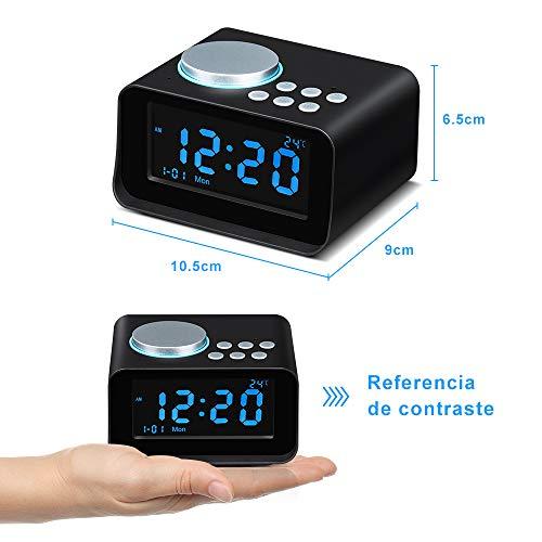 Altavoces Inalámbrico Bluetooth, despertador, Radio FM, Alarma, manos libres