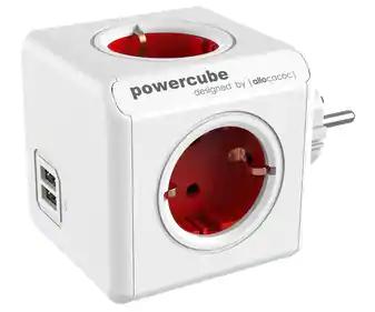 PowerCube Original USB 4 Tomas + 2 USB + Rojo (Alcampo Castellón)
