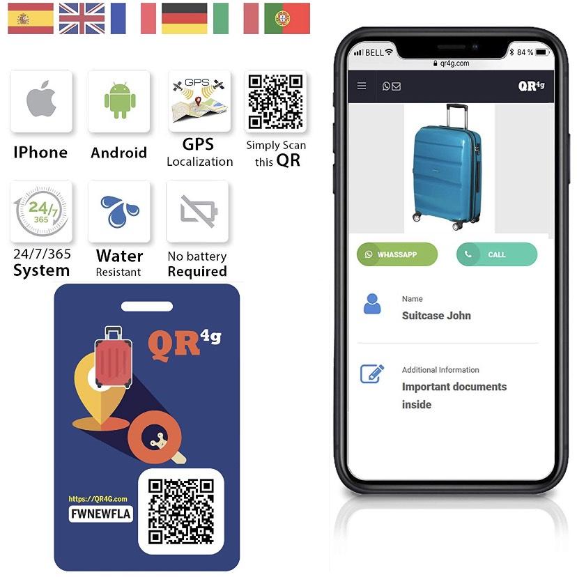 GPS maleta y mochilas