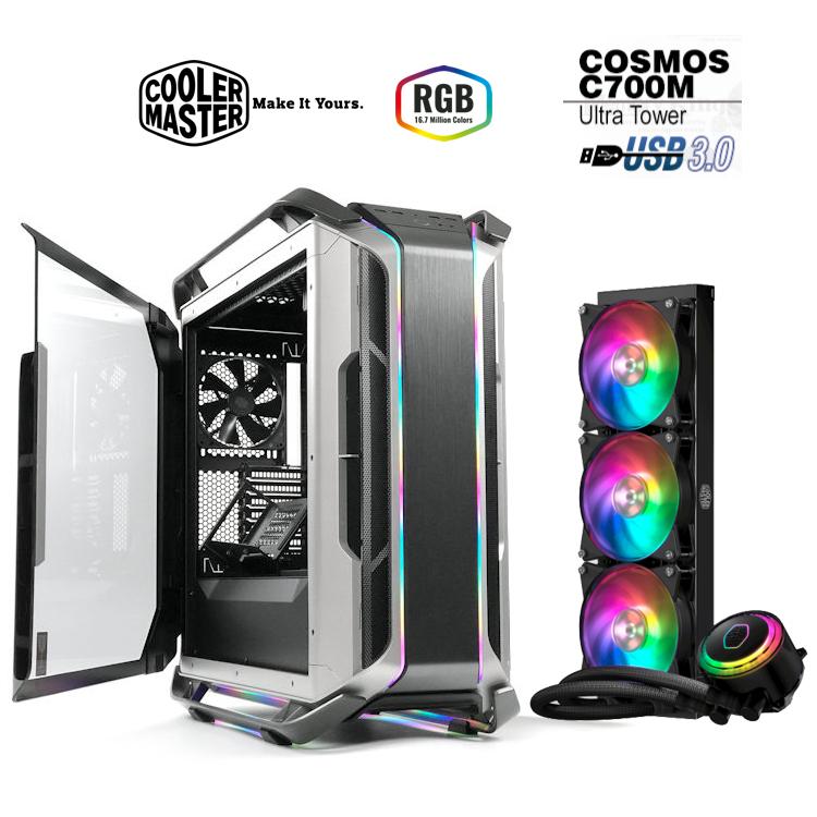[ Bundle Cooler Master ] Caja Cosmos C700M + Kit Líquida MasterLiquid ML360R RGB