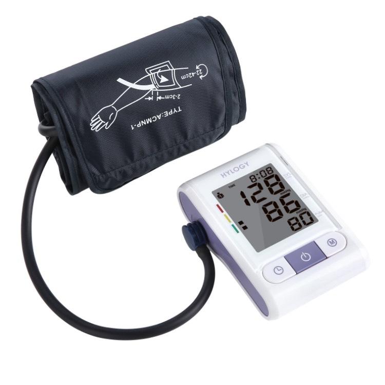Hylogy Tensiómetro de Estilo de Brazo, Esfigmomanómetro Digital con Puño Automático de Brazo y Pantalla Grande