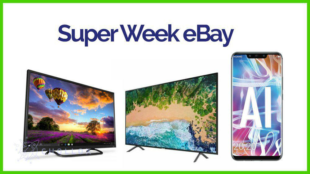 Super Week en eBay, 60% de descuento y envíos gratis desde España