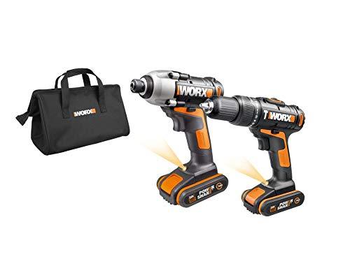 Pack Taladro de impacto y  martillo WORX WX938
