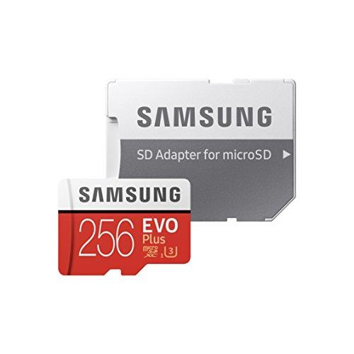 Tarjeta de Memoria microSD Samsung EVO Plus de 256 GB + Adaptador SD