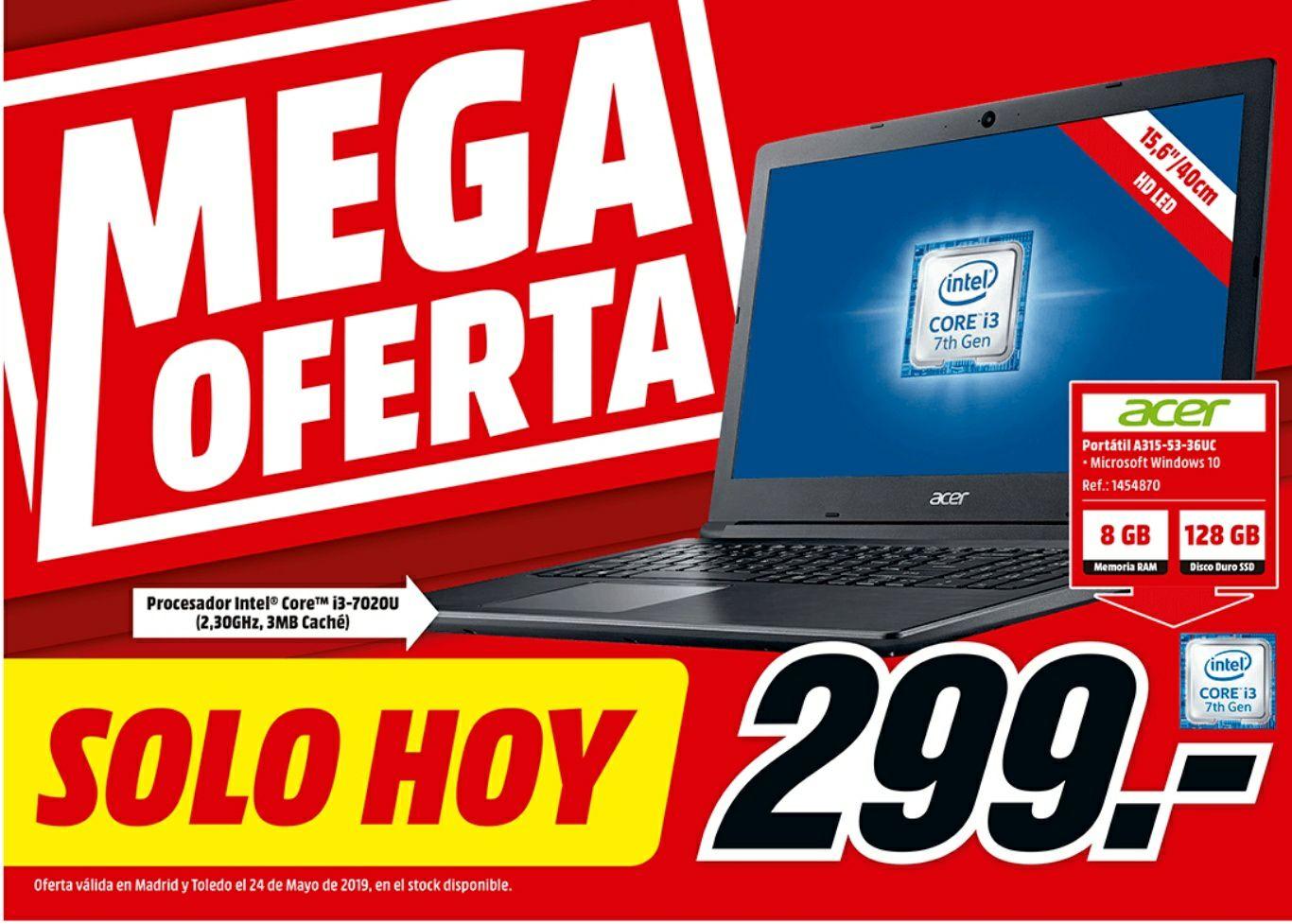 MEGA ofertas solo hoy en Mediamarkt C. Madrid y Toledo.