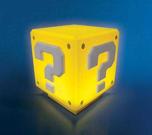 Lámpara 3D Super Mario Question Block