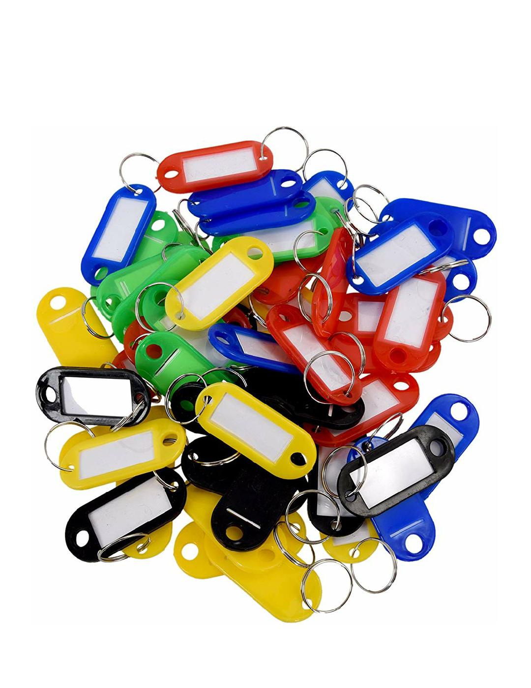 50 Llaveros de plástico para poner nombres por 1,45€