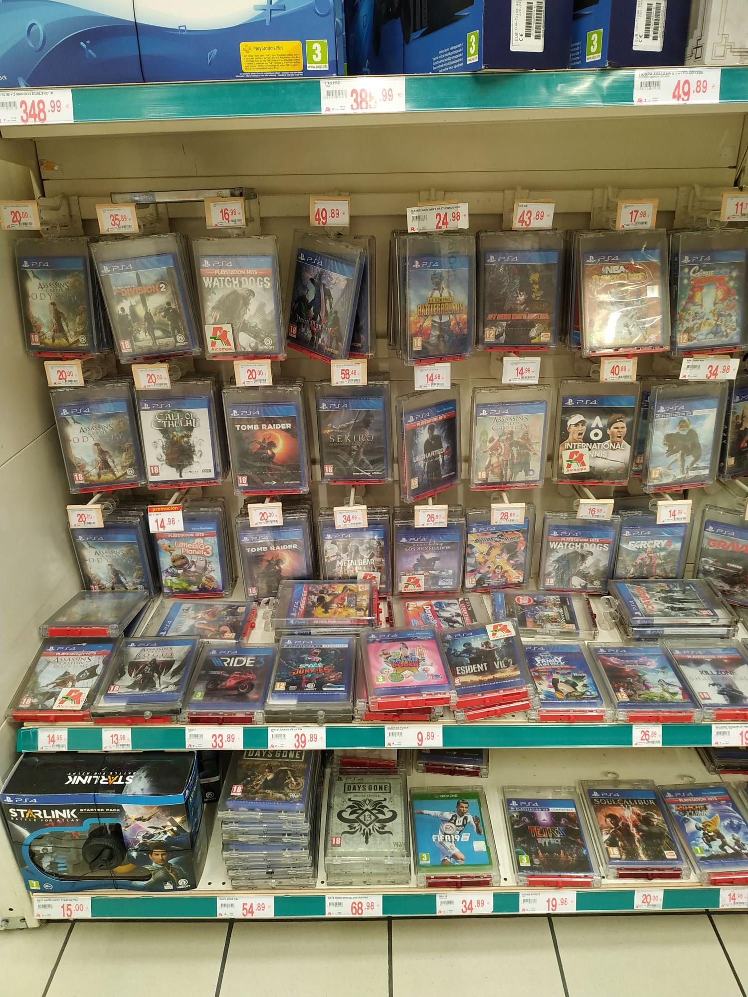 Varios juegos PS4 a 20€ en Alcampo Sevilla