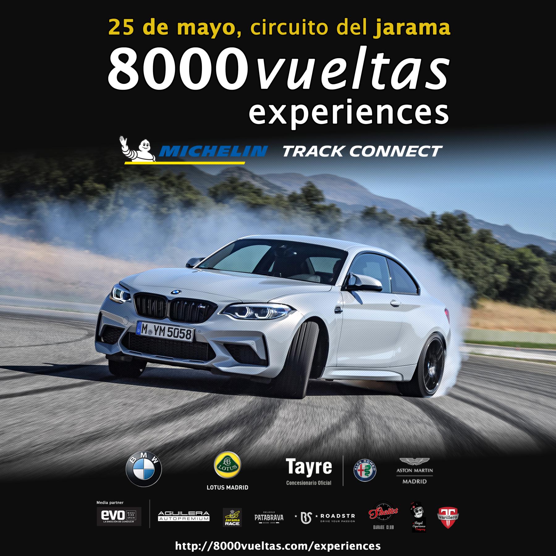 Circuito del Jarama (Sábado 25 mayo): 8000 vueltas experiences Michelin (GRATIS)