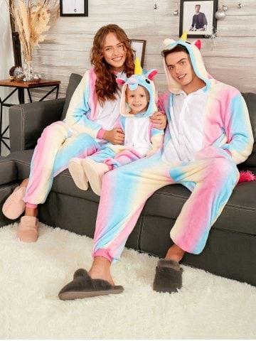 Pijama de Unicornio arcoiris
