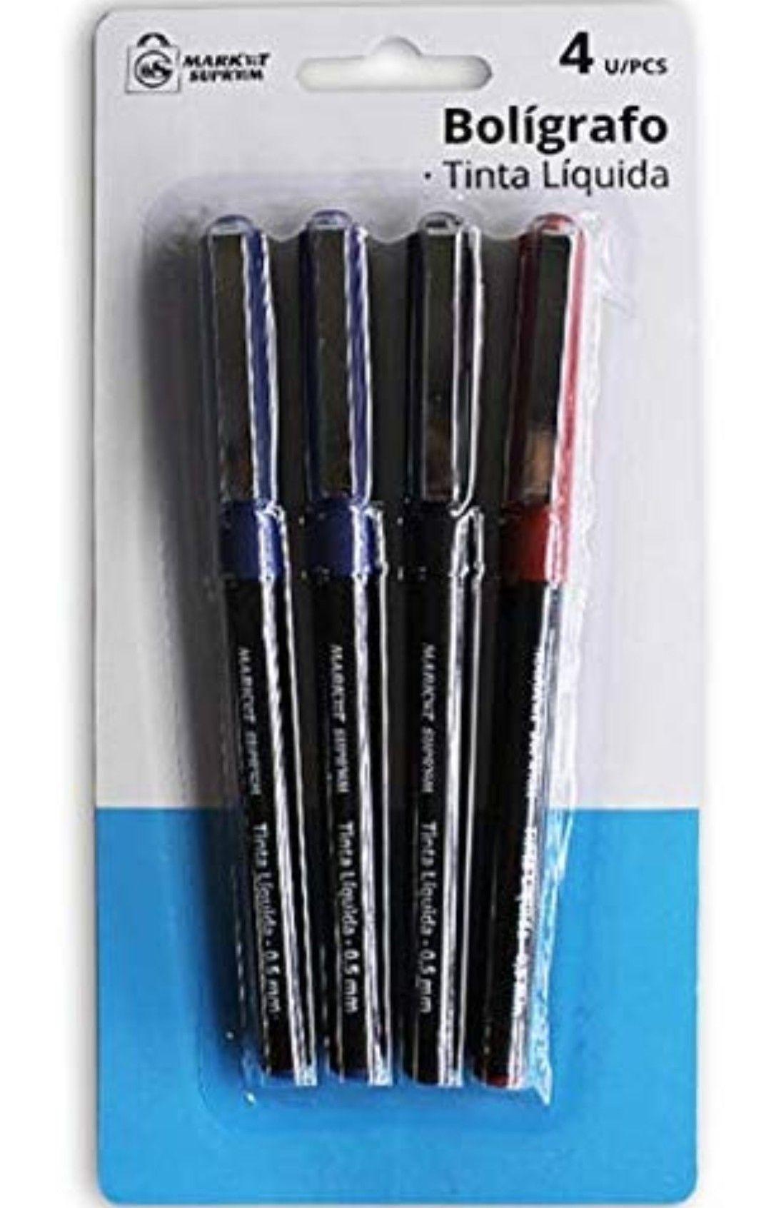 4 bolígrafos de tinta líquida baratos