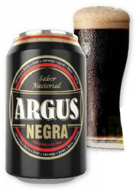 Cerveza Argus Negra. Lata 33 cl. Lidl. 50% segunda unidad.