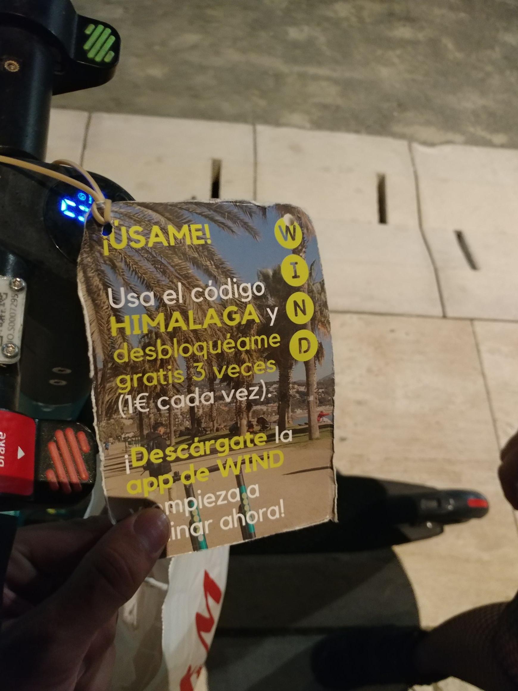 Tres desbloqueos gratis de patineta WIND (Málaga)