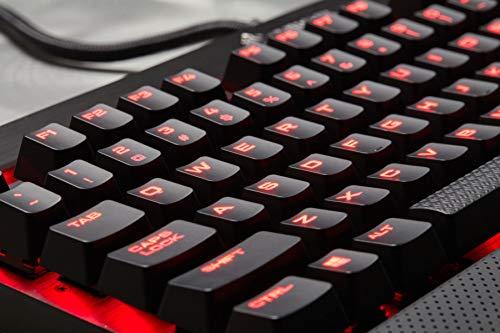 Corsair K70 LUX.- Teclado mecánico Gaming, retroiluminación LED roja, Rojo (Cherry MX Red)