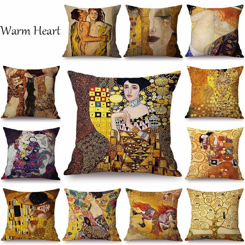 Funda de cojín de diseño (Gustav Klimt)