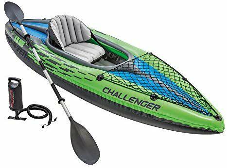 Intex 68305NP - Kayak hinchable Challenger K1 con un remo 274 x 76 x 33 cm