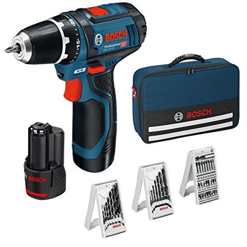 Bosch Professional Taladro+39acc+2 baterias+cargador+bolsa